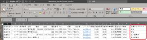 配送先の新規追加です。CSVデータからのインポートです。